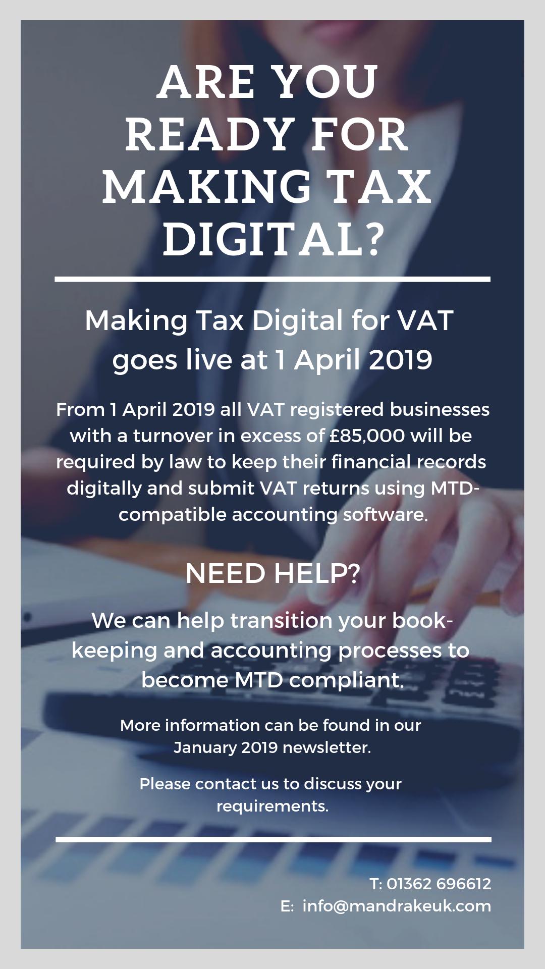 making tax digital 2019